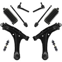 97-05 GM Grand Am, Cutlass, Malibu & Alero Front Steering & Suspension Kit (10 Piece)