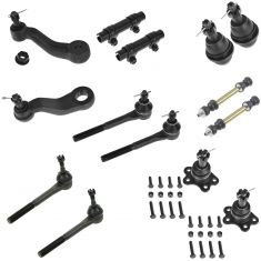 96-99 K1500, Subrn K1500; 96-00 K2500, Tahoe, Ykn 4WD & Cast Arm Frt Stg & Sptn Kit (14 Piece Set)