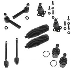 00-04 Dodge Dakota; 00-03 Durango 4WD Front Steering & Suspension Kit (10 Piece Set)