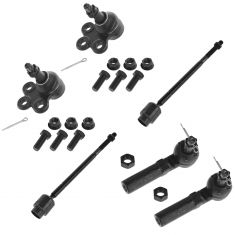 97-11 Buick Chevy Front Lower Ball Joint & Tie Rod Kit (6 Piece Set)