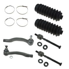88-91 Honda Civic CRX Front Inner & Outer Tie Rod Ends w/ Rack Boots Kit (6 Piece)