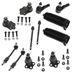 00-04 Dodge Dakota; 00-03 Durango w/2WD Front Steering & Suspension Kit (12 Piece)