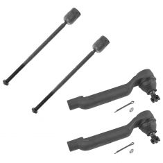 93-98 Lincoln Mark VIII Front Inner & Outer Tie Rod End Pair