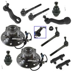 95-00 Chevy 1500 (w/Diesel), 2500 4x4 HD Steering & Suspension Kit (12 Piece)