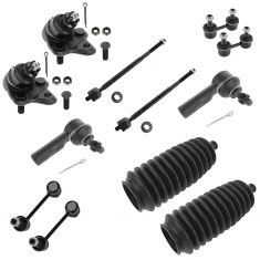96-02 Toyota Corolla, 96-02 Chevy Geo Prizm Front & Rear Steering/Suspension Kit (12 Piece Set)