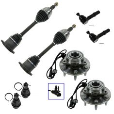 07-12 Chevy GMC Fullsize Pickup SUV Front Steering & Suspension Kit (8 Piece)