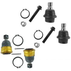 05-15 Frontier, Xterra; 05-12 Pathfinder Front Upper & Lower Ball Joint Set of 4