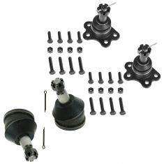 93-00 Chevy GMC Pickup SUV 2WD Upper & Lower Ball Joint Set of 4