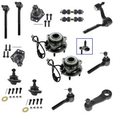 98-05 Chevy, GMC, Isuzu, Olds Mid Size PU, SUV Steering & Suspension Kit (16 Piece)
