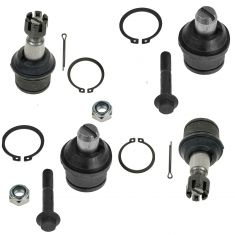 08-13 E150; 92-13 E250 E350 Upper & Lower Ball Joint Set of 4
