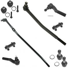 92-04 Ford E250 E350 Econoline Van Steering & Suspension Kit (10 Piece)