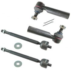 05-13 Toyota Tacoma 4WD; 2WD PreRunner Inner & Outer Tie Rod End Set of 4