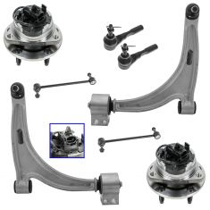 07-09 Saturn Aura; 05-10 G6; 04-11 Malibu Front Steering & Suspension Kit (Set of 6)