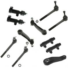 96-02 Chevy Express GMC Savana 11 Piece Front Steering & Suspension Kit