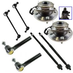 08-10 Dodge Grand Caravan; Chrysler Town & Country Steering Suspension Kit (8 Piece)