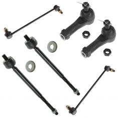 99-01 Honda Odyssey Front Inner & Outer Tie Rod End with Sway Bar Links Kit (Set of 6)