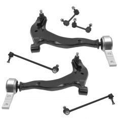03-07 Nissan Murano Front Lower Control Arm w/Ball Joint & Sway Bar Link Kit (Set of 6)