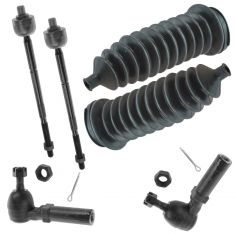 96-00 Dodge Chrysler Plymouth Minivan Front Inner & Outer Tie Rod End & Bellow Kit (Set of 6)