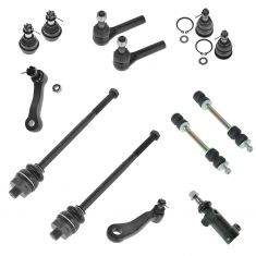 01-07 GM Full Size PU SUV (w/3 Groove Pitman Arm) Front Steering & Suspension Kit (13 Piece Set)