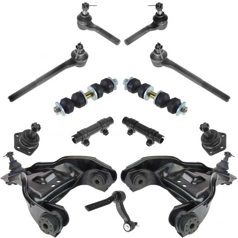94-05 Chevy, GMC, Olds, Isuzu Mid Size Truck SUV 4WD Steering & Suspension Kit (13 Piece)