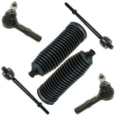 06-10 Explorer; Mountaineer; 07-10 Explorer Sport Trac Inner & Outer Tie Rod Kit w/ Boots (Set of 6)