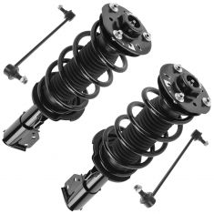 10-13 Chevy Equinox, GMC Terrain Front Strut & Spring Assembly w/ Sway Bar Link Kit (Set of 4)
