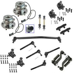 95-02 Astro; Safari Steering & Suspension Kit (17 Piece)