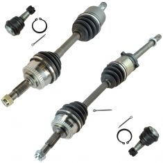 93 Altima (w/AT & w/o Lck Diff); 94-97 Altima w/AT Front CV Axle Shaft w/Lower Balljoint Kit (Set 4)