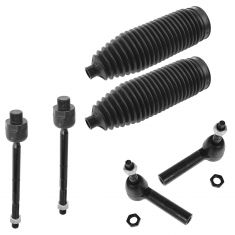 00-04 Dodge Dakota; 00-03 Durango 4WD  Inner & Outer Tie Rod End w/ Rack Boot Kit (6 Piece)
