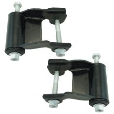 85-05 Chevy Astro, GMC Safari Van Rear Leaf Spring Rearward Shackle & Bracket Kit Pair
