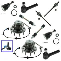 03-15 Chevy GMC 2500 3500 Van Front Steering & Suspension Kit (10 Piece)