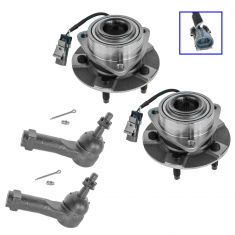 02-07 GM FWD Mini Vans w/ABS Front Hub & Bearing w/Outer Tie Rod Kit