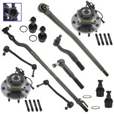 99-02 Ford F250, F350; 00-02 Excursion 4WD Steering & Suspension Kit (12pc)