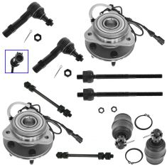 98-01 Ford Explorer; Mountaineer 10 Piece Steering & Suspension Kit