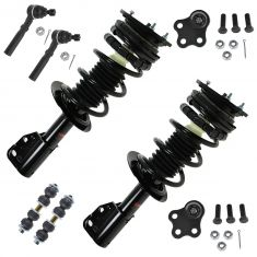 97-99 Chevy Cavalier; Pontiac Sunfire Front 8 Piece Steering & Suspension Kit