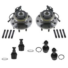 00-02 Ford Excursion; 99-03 F250; F50 Super Duty 4x4 w/4 whl ABS Steering & Suspension Kit (6pc)