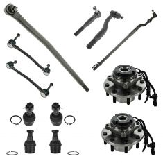00-04 Ford F350 Super Duty 12 Piece Steering & Suspension Kit