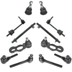 98-02 Ford Crown Victoria; Lincoln Town Car; Grand Marquis Steering & Suspension Kit (12pcs)