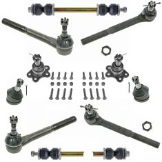 96-02 Chevy Express 1500 2500; GMC Savana 1500 2500 Steering & Suspension Kit (10pcs)