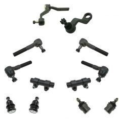 91-96 Dodge Dakota w/4WD Steering & Suspension Kit (12pcs)
