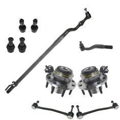 00-02 Ford Excursion Super Duty 4x4 Steering & Suspension Kit (10pcs)