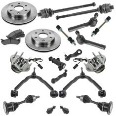 99-07 Cadillac, Chevy, GMC Pickup/SUV Multifit Steering Suspension & Brake Kit (20pcs)