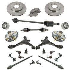 01-05 Honda Civic ex SI Steering Suspension & Brake Kit (21pcs)