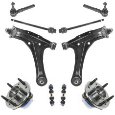 97-04 GM Grand Am, Cutlass, Malibu, Alero Steering & Suspension Kit (10pcs)