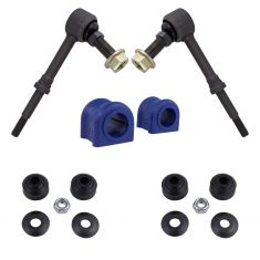 06-08 Dodge Ram 1500; 06-09 2500, 3500 w/4WD Front Sway Bar Link & Bushing Kit (4 Piece Set) (Moog)