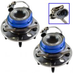 92-99 GM Cars Front Hub Bearing & ABS Sensor Pair