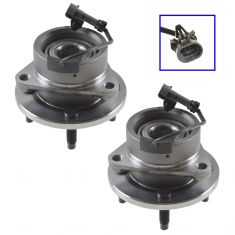 03-10 GM Mid Size FWD w/ABS & 4 Lug Front Hub & Bearing Assy PAIR