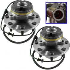 99 Ford Super Duty Truck 4WD 4Whl ABS Fron Wheel Bearing & Hub Assy PAIR