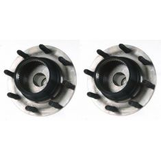 1999 Ford Super Duty Truck SRW 4WD 2 Whl ABS Front Wheel Bearing & Hub PAIR
