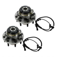 99 Ford Super Duty Truck SRW 4WD 4 Whl ABS Front Wheel Bearing & Hub PAIR